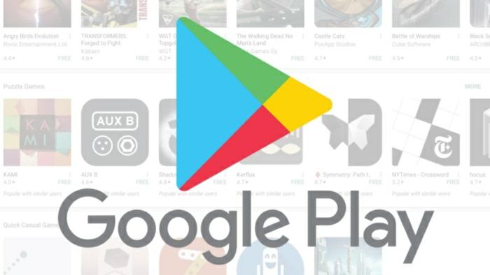 Das Logo von Google Play Store, viele Spiele, die das Online Geschäft App anbietet