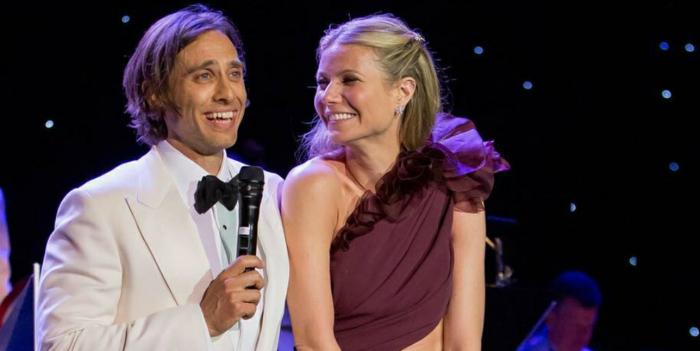 Gwyneth Paltrow und ihr Ehemann sind zusammen bei einer Talkshow