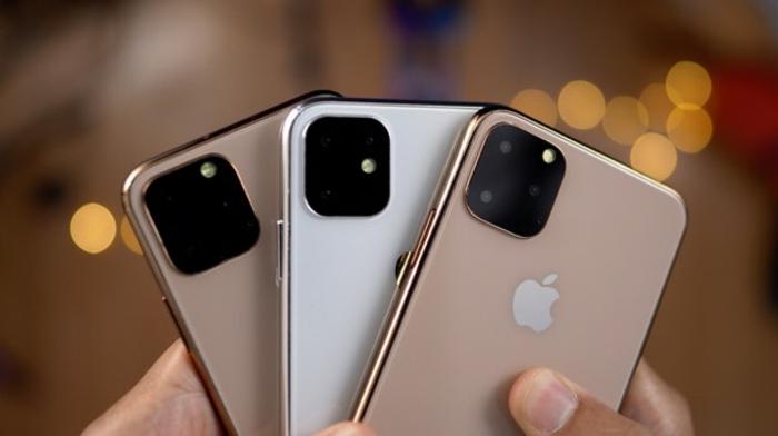 drei iPhones, iPhone 11 in den Händen von einem iPhone Besitzer, edle Farben