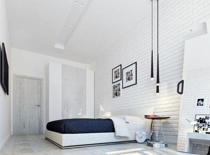deko schlafzimmer, ein zimmerdesign zum einlehnen, minimalismus im schlafzimmer