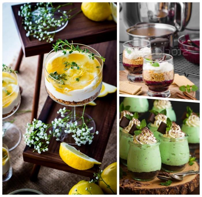 käsekuchen im glas, cheesecake mit mango und limetten, nachtishc für gäste, party dessert