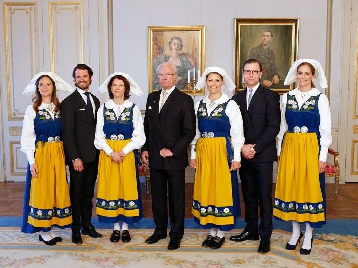 schwedische mode in traditionellem stil, die schwedische prinzessin mit nationaler tracht