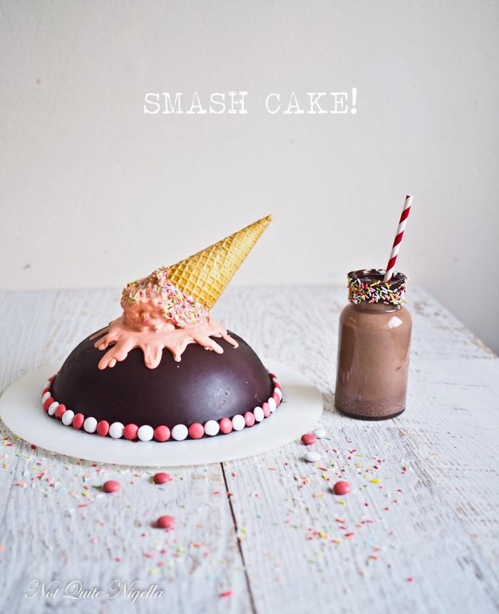 kindergeburtstagskuchen, smash torte selber machen, torte zum 1 geburrstag, schokolade