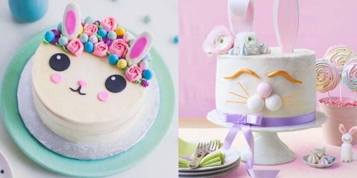 kuchen für kindergeburtstag, torte hase machen, geburtstagsuchen backen und dekorieren, rezepte