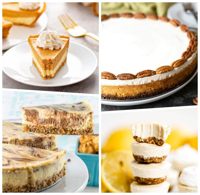 kuchen ohne zucker und mehl, cheesecake mit pekannüssen, nachtisch ideen low carb