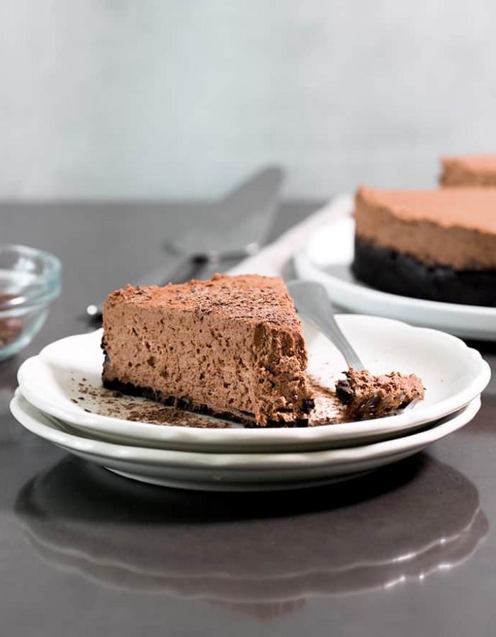 kuchen ohne zucker und mehl, philadelphia torte mit schokolade, low carb schokokuchen