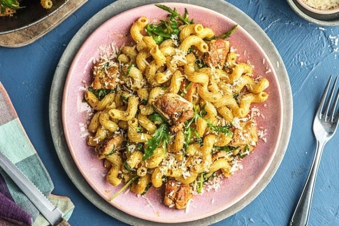 was esse ich heute, nudeln, pasta gerichte einfach und schnell, petersilie, pilzen