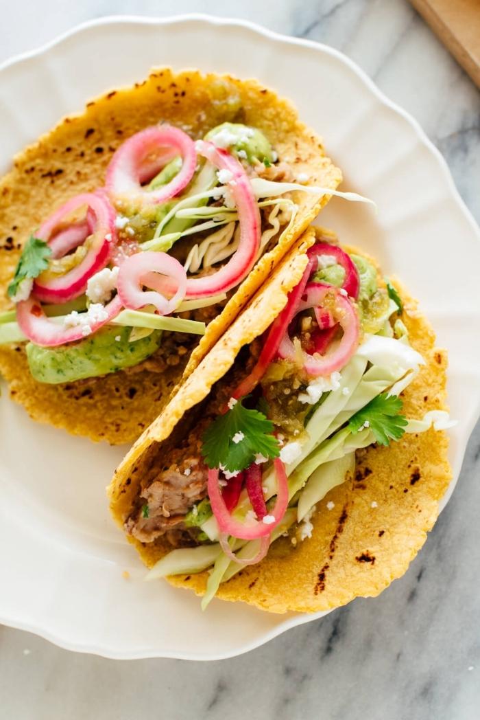leckere vegetarische gerichte, gesunde tacos mit gemüse, mittagessen ideen, rezept ohne fleisch