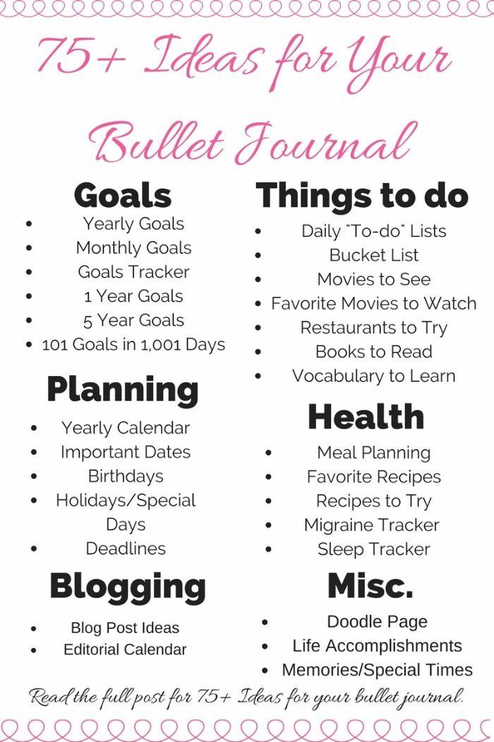 bullet journal anleitung deutsch, ziele, aufgaben, plan, gesundheit, bloggen, ideen für das tagebuch