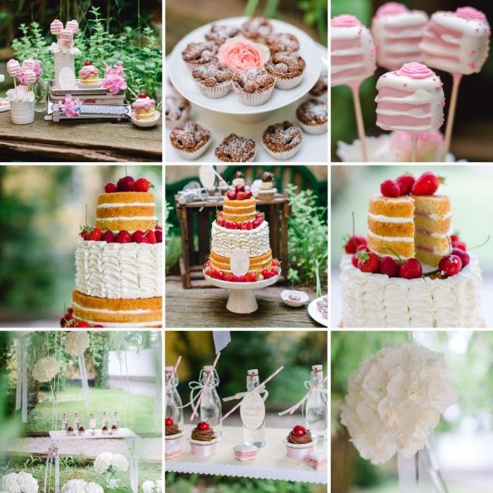 rezept linzer kuchen lafer, collage bild mit neun kleinen fotos darauf, kuchen ideen und inspiration