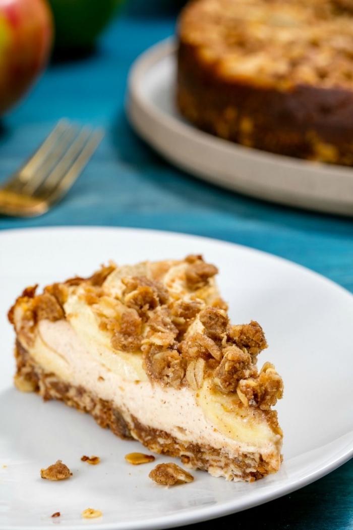 low carb apfelkuchen, dessert mit äpfeln und nüssen, kohlenhydratarmes dessert
