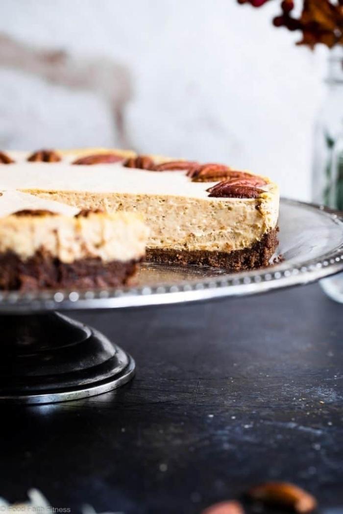 low carb backen, nachtisch mit pekannssen, cheesecake rezept, kohlenhydratarm