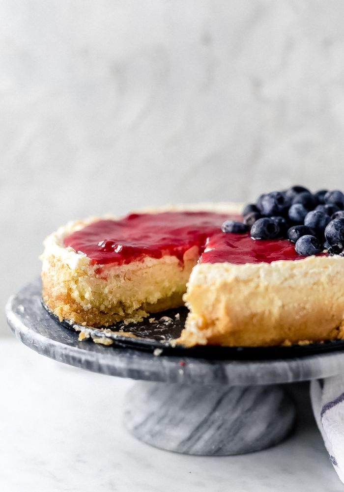 low carb kuchen mit blaubeeren, cheesecake rezepte, nachtisch ideenm kohlenhydratarm