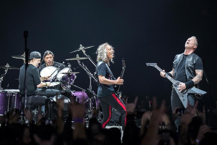 Die Musiker von Metallica zeigten sich in Topform vor ihren Fans in der National Arena Bukarest