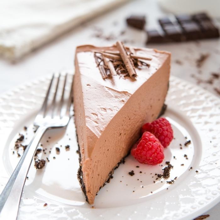 philadelphia torte mit schokolade, nachtisch rezepte einfach und schnell, dessert ideen