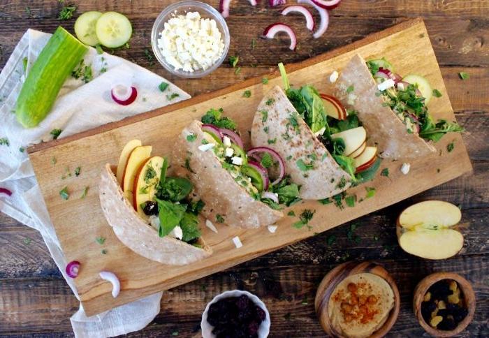 was koche ich morgen, tacos oder tortillas einfach, sehr schnell und lecker, äpfel