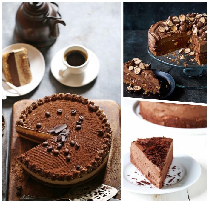 party dessert zum vorbereiten am vortag, schokoladnekuchen rezepte, torte ohne backen