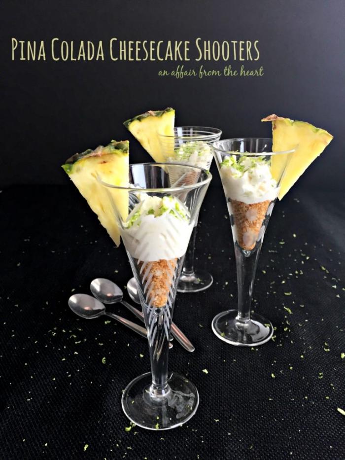 party dessert im glas rezepte, party essen ideen, natisch für gäste, cheesecake mit ananas