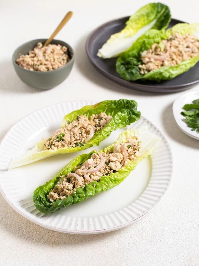 mittagessen vorschläge, grünsalat mit tunfisch speisen zum nachmachen für die keto diät