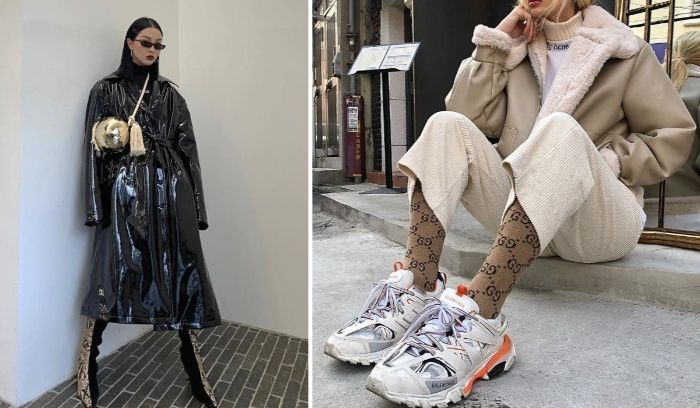 skandinavische mode marken, sneakers casual mode für damen, schwarze kleidung, beiges outfti