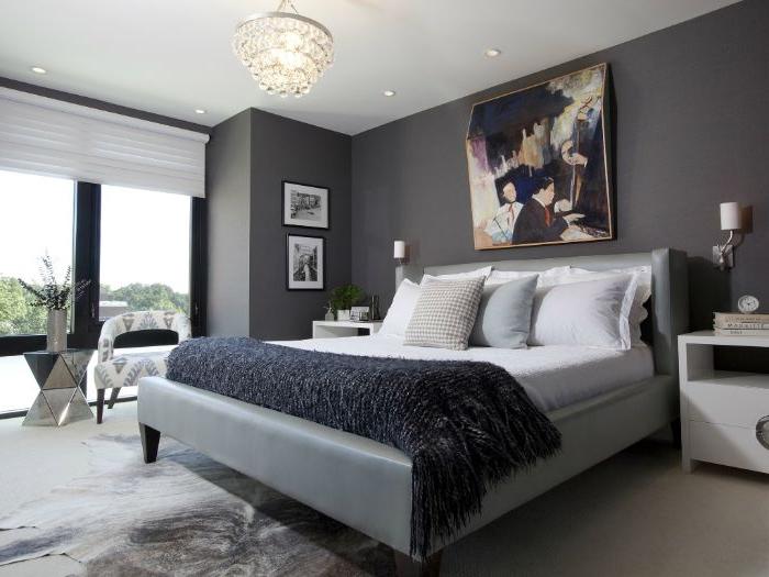 schlafzimmer design, ein graues zimmer mit perfektem design, grau ist nicht langweilig, gemütliches schlafzimmer