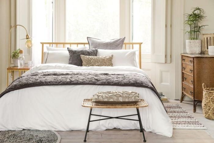moderne schlafzimmer, elegant, minimalistisch, klassisch, stilvoll und cool, stil im designer schlafzimmer,