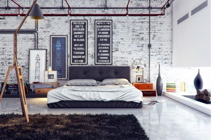 wandgestaltung schlafzimmer, kreative wandgestaltung, weiß und schwarz, ideen, wanddekorieren
