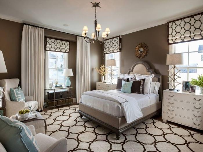 wandgestaltung schlafzimmer, elegant und schön design ideen zum inspirieren