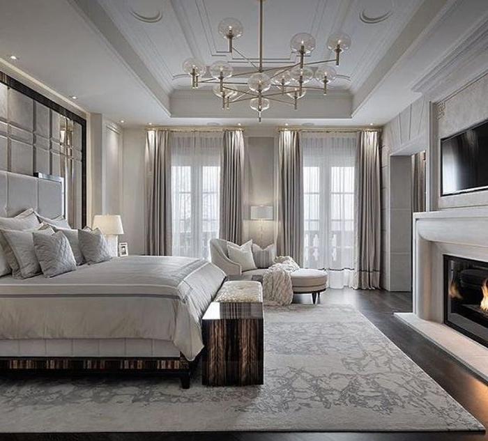 ankleidezimmer ideen, weißes zimmer designer ideen, eleganz im schlafbereich, zimmer ideen