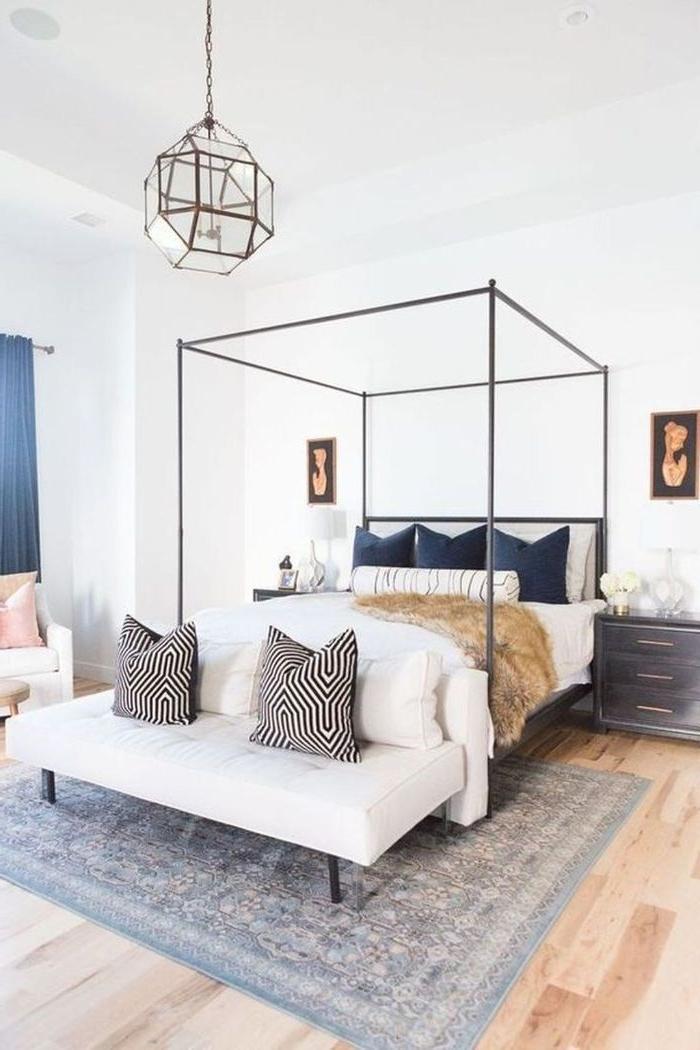schlafzimmer modern, lampe ideen, design schlafen mit stilvoller umgebung
