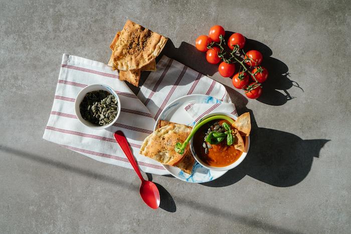 Schnelle vegetarische Gerichte, Tomatensuppe selber machen