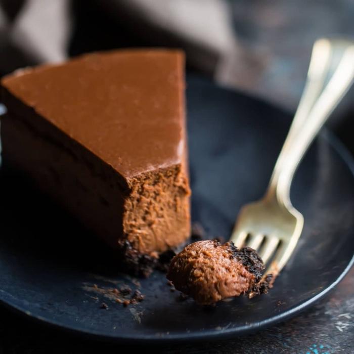schokoladentorte rezept, torte mit schokolad,e frischkäsekuchen mit kakso, schnelles dessert mit wenig zutaten