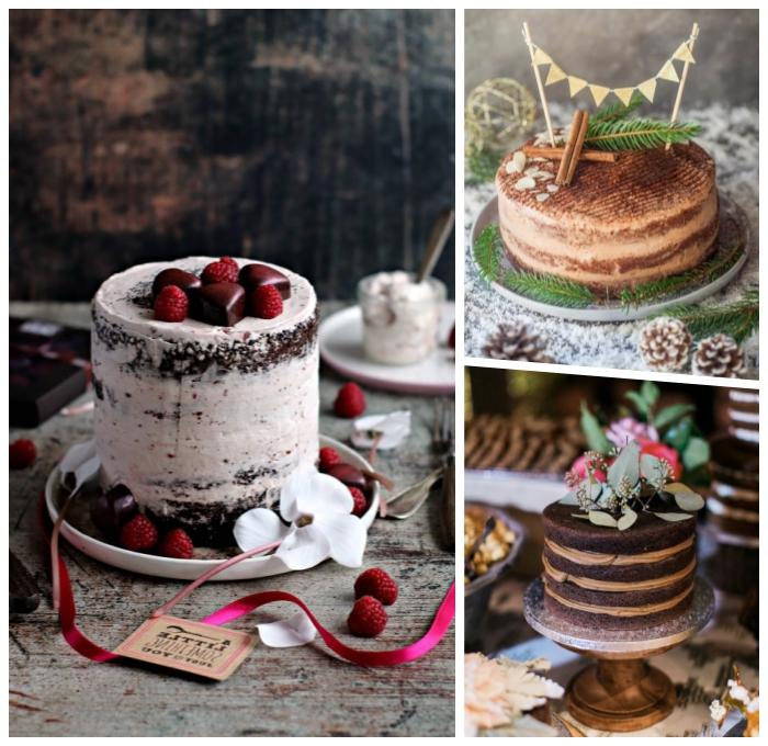 schoko rucht torte ideen, cake mit kirchen, nachtishc zu weihnachten, nakes kcuhen rezepte