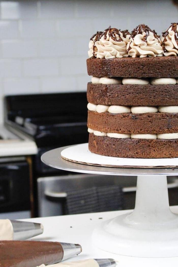 schoko mascarpone torte selber machen, eifnache zubereitung, tortendeko schnell