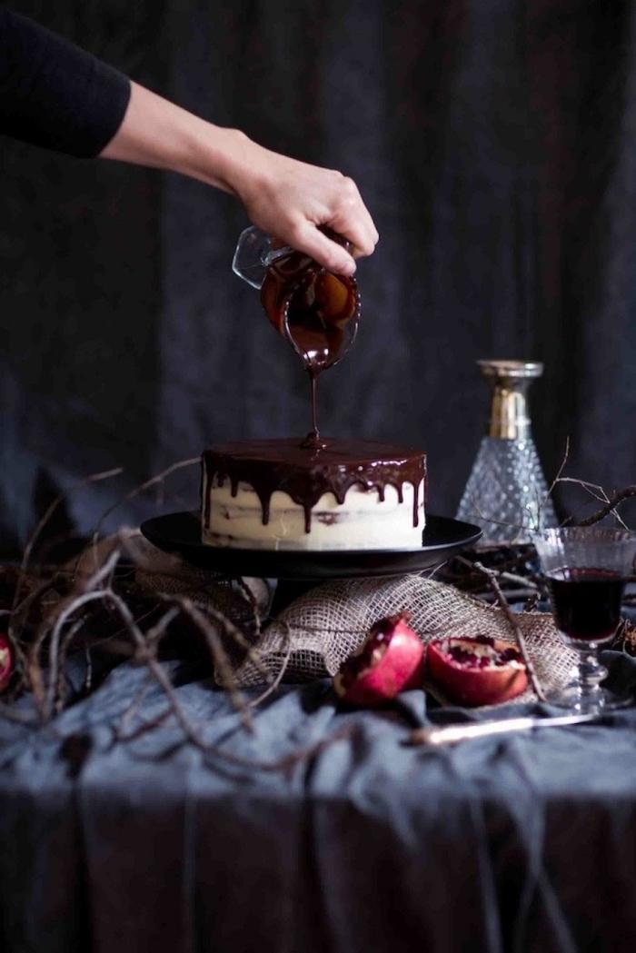 schoko mascarpone torte rzeept, kleiner kuchen, dripping cake, schokoaldenganche