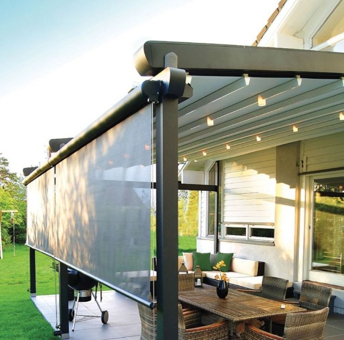 home kino von der gartenterrasse selber machen, beispiele und ideen zum entlehnen, garten mit barbeque und terrasse