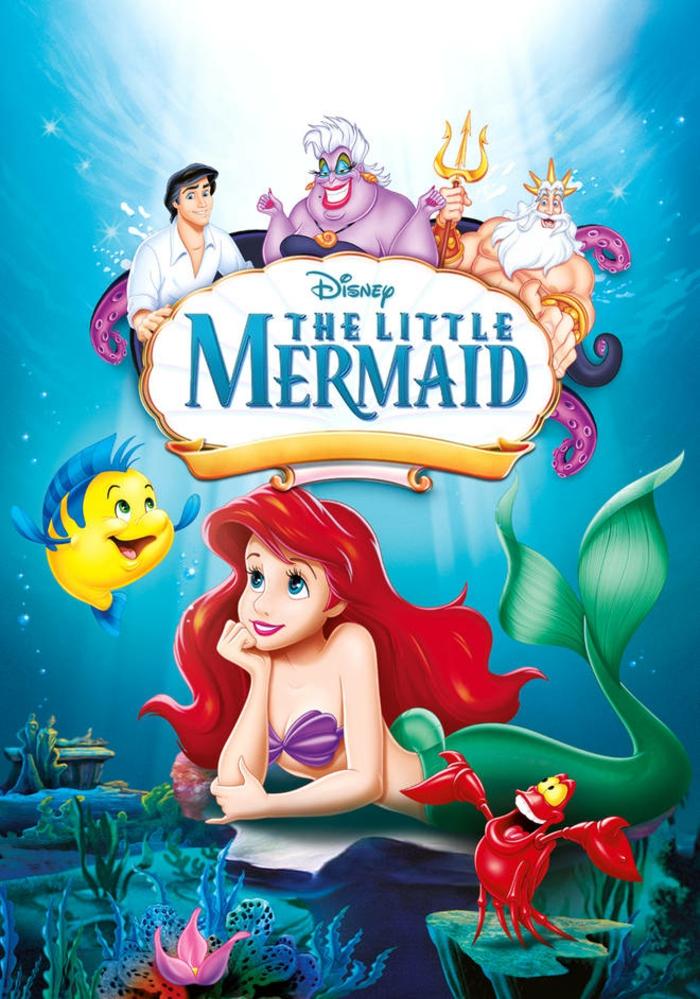 ein Poster von The Little Mermaid von Disney, ein erfolgreicher und beliebter Film