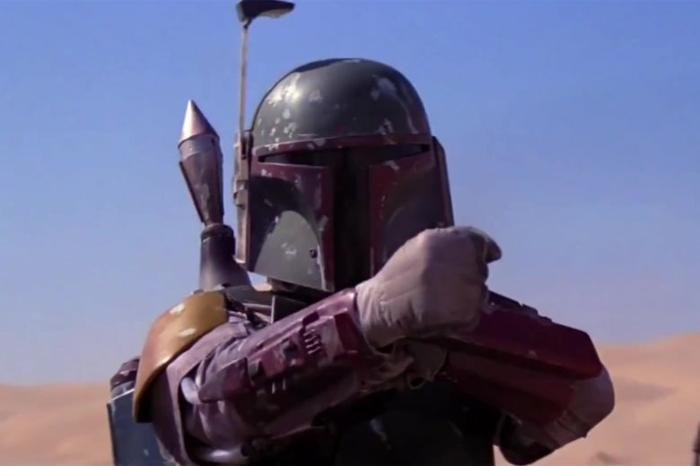 Boba Fett, lila Ausrüstung, ein Held in der Wüste, The Mandalorian