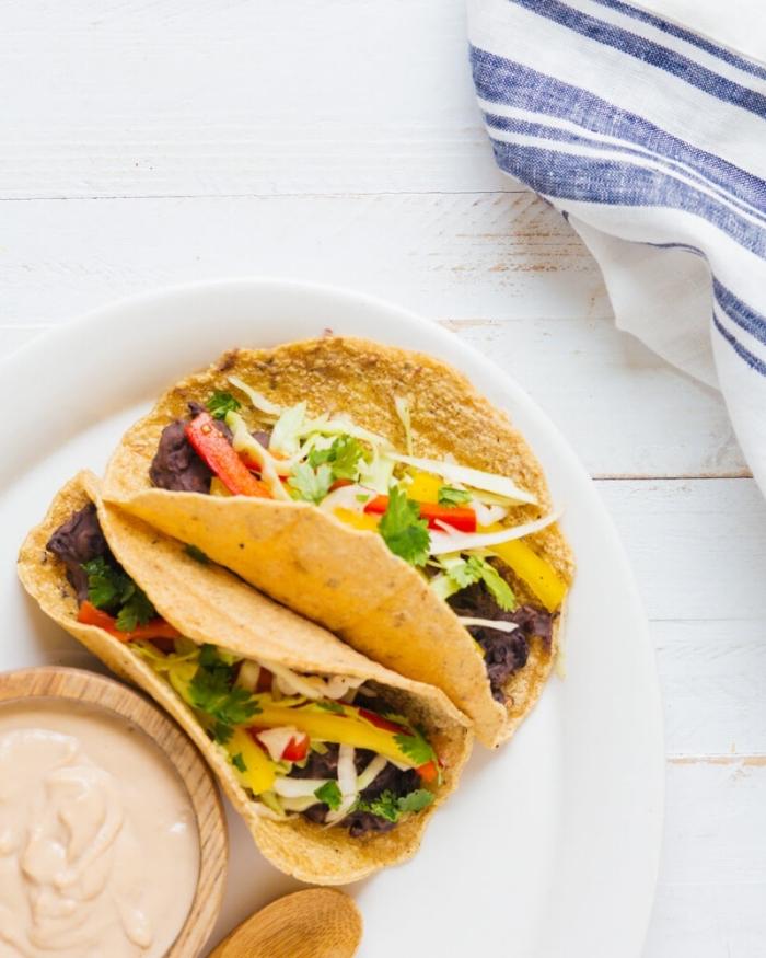 vegetarische gerichte für gäste, tacos mit gesmüse und käse rezept, mittagessen