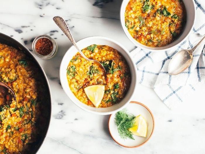 vegetarische gerichte für gäste, suppe cache mit gemüse, abendessen ohne fleisch