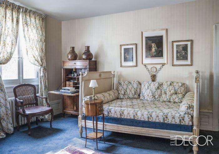 schlafzimmergestaltung ideen von elle decor, shabby stil zimmer mit retro atmosphäre