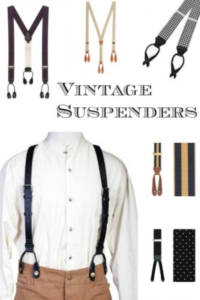 schuhe 20er jahre, hosenträger. accessoires für männer, krawatte, hut, desigindeen