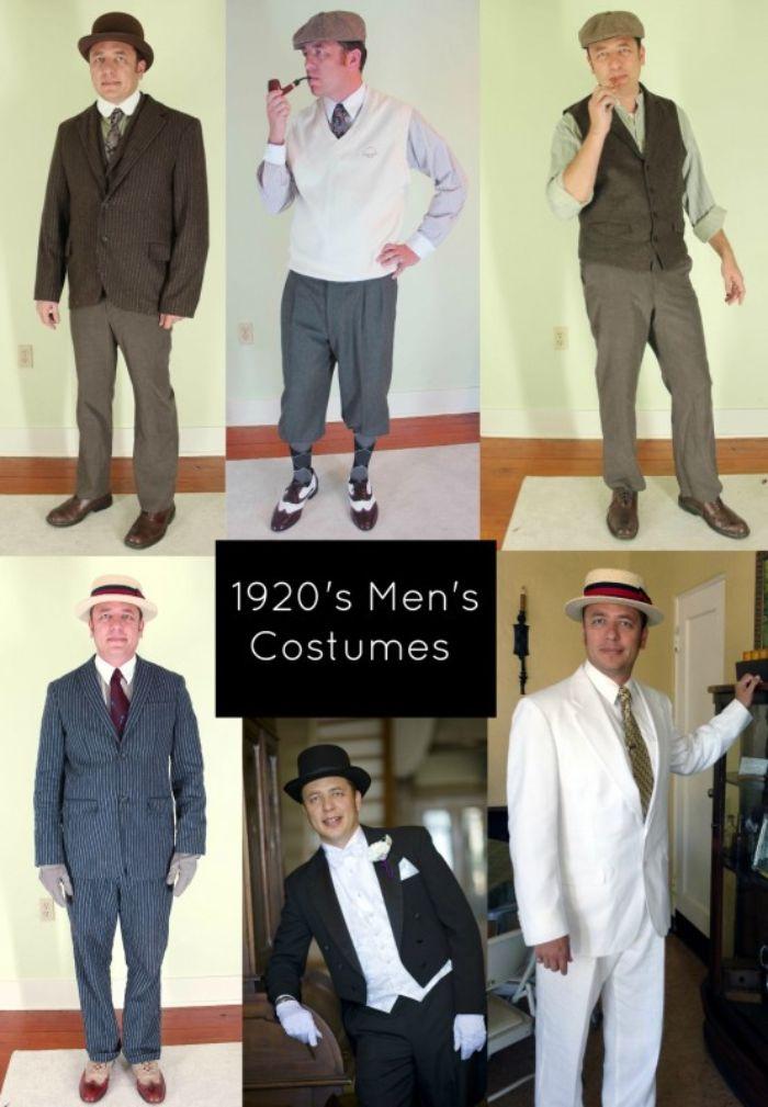 schuhe 20er jahre, accessoires für männer, hüte, krawatten, pfeife, fliege, 20er anzüge