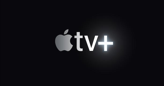 apple tv serie, schwarzer bildschirm mit dem zeichen von apple darauf und tv zeichen