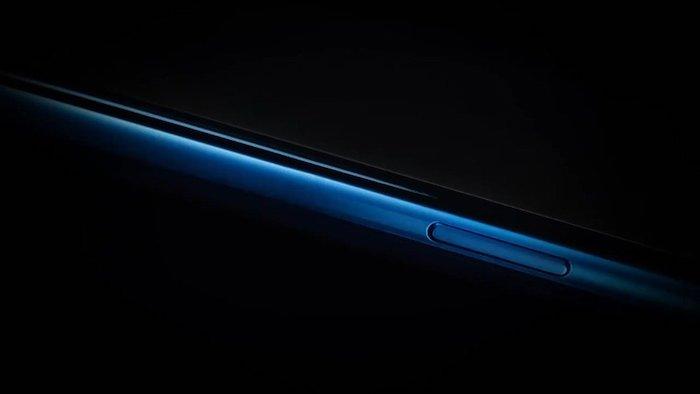 das neie blaue smartphone von dem chinesischen hersteller oneplus. onieplus 7t