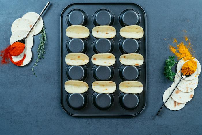 Mini Tacos im Muffinblech backen, einfaches Rezept für Partyfood zum Nachmachen