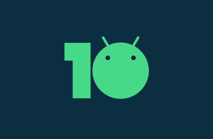 das grüne logo der neuen version des betriebssystem von google, logo von android zehn
