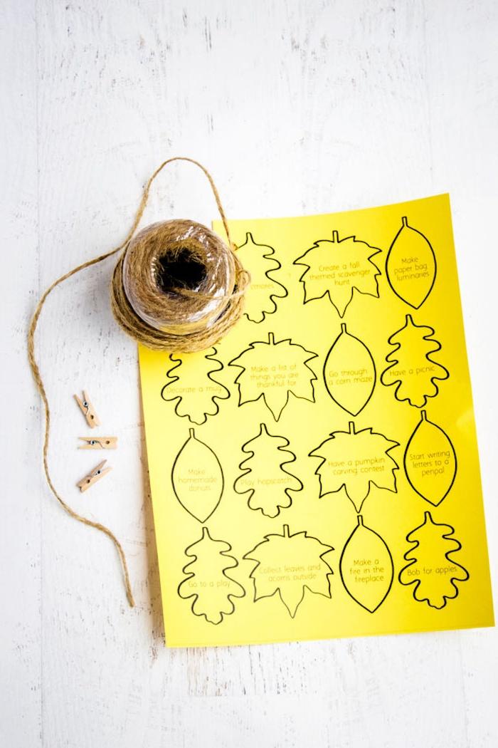 Herbstgirlande selber machen, Vorlagen für Herbstblätter drucken lassen und ausschneiden