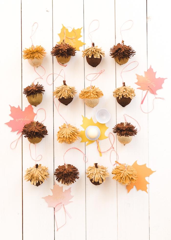 Eicheln selber machen, zu Hause herbstlich dekorieren, Herbstdeko Ideen