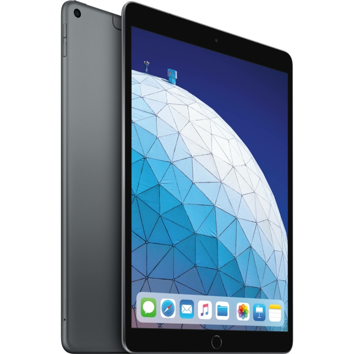 ein iPad mit einem großen Kugel und viele Apps auf dem Bildschirm